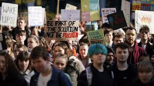 Pupils climate change demo (BBC)