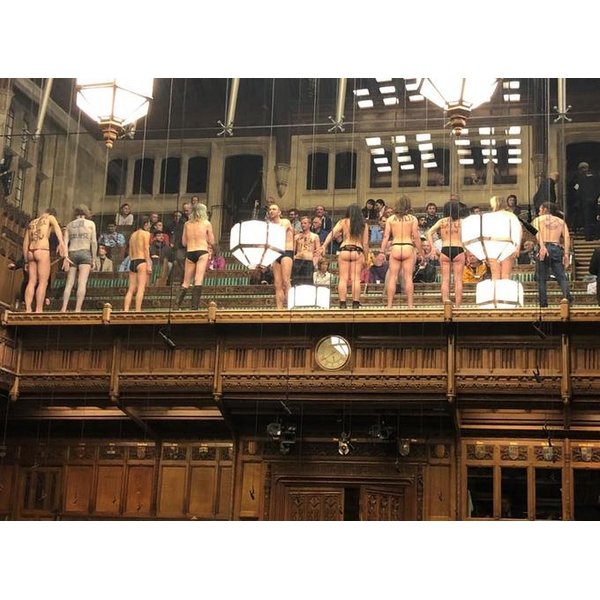 HoC climate change protest (ITV)