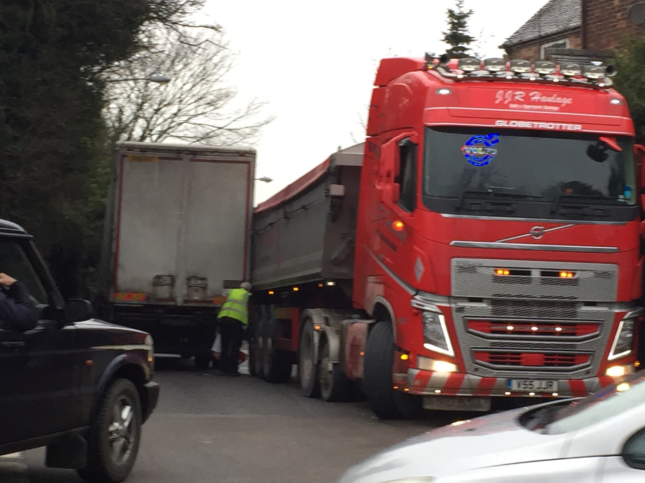 Lorries stuck on A515 (Peter Dobbs)