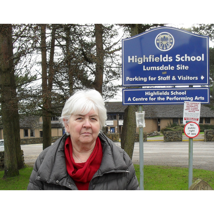 Sue Burfoot outside Highfields (Martin Burfoot)