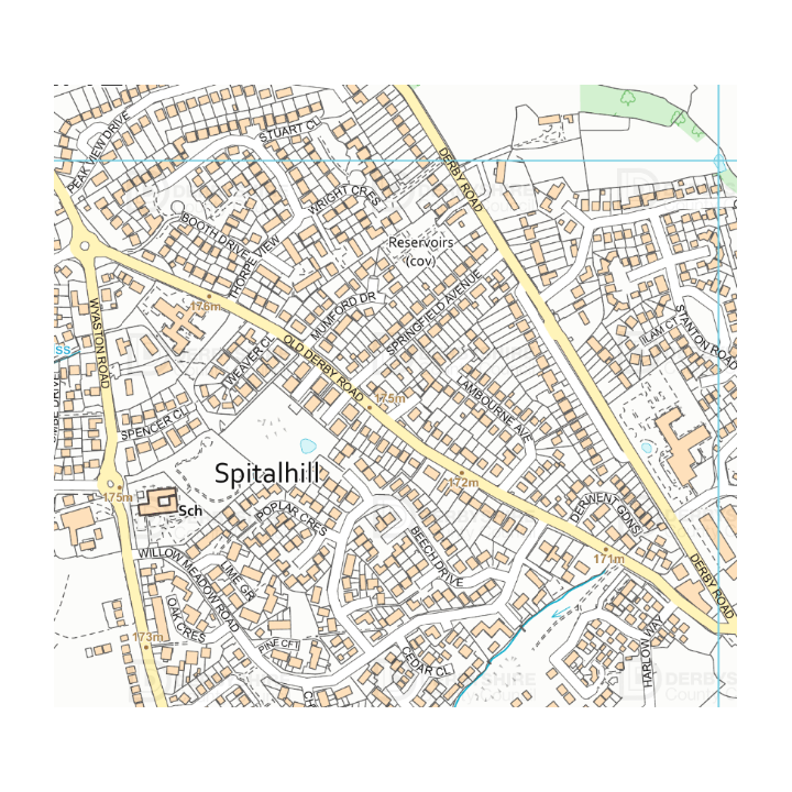 Map of Hilltop Ashbourne (Derbyshire County Council)
